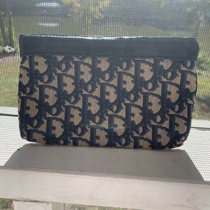 Vintage Dior trotter small cosmetic bag